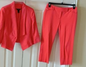 White House Black Market Orange Blazer & Pant Set